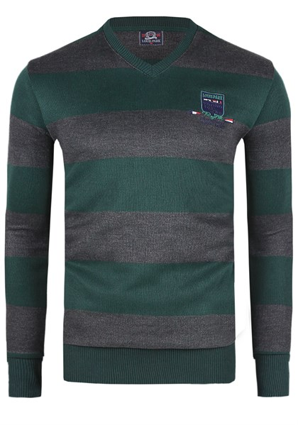 Madmext Striped Green Sweater 1350