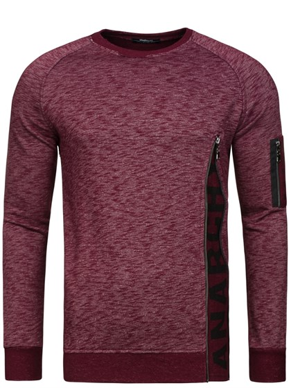 Madmext Burgundy Sweater 1723