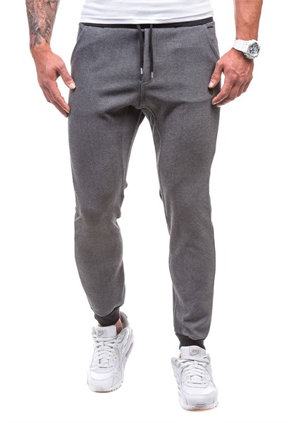 Madmext Slim Fit Jogger In Smoked