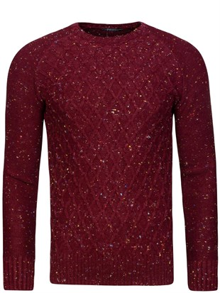 Madmext Burgundy Jumper 1555