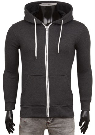 Smoked Casual Zip Front Hoodie 1725