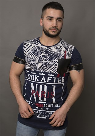 Printed T-Shirt With Pocket  1454
