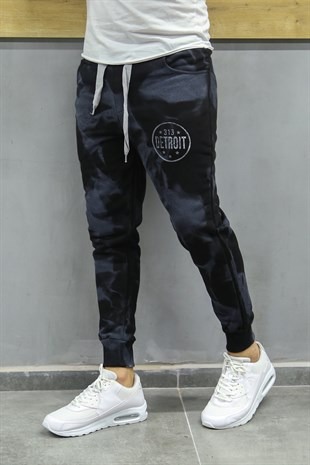 Madmext Printed Black Jogger 2704