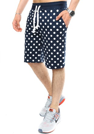 Madmext Men Daily Navy Blue Shorts 2433