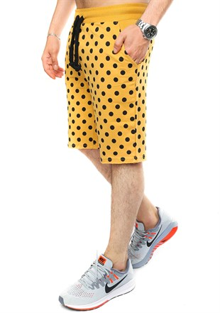 Madmext Men Daily Yellow Shorts 2433