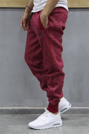 Madmext Burgundy Joggers 1613