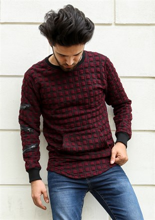 Madmext  Bordo Sweatshirt 2109