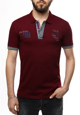 Madmext Burgundy Polo Shirt 2361
