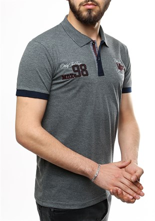 Madmext Smoked Polo Shirt 2361