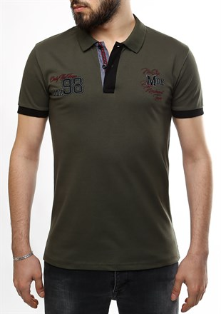 Madmext Khaki Polo Shirt 2361