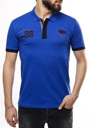 Madmext Blue Polo Shirt 2361