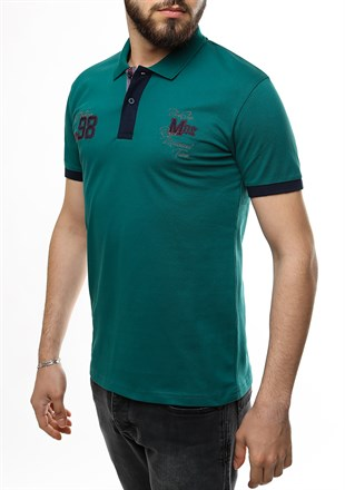 Madmext Green Polo Shirt 2361