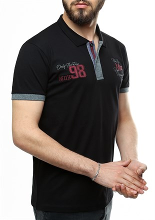 Madmext Black Polo Shirt 2361