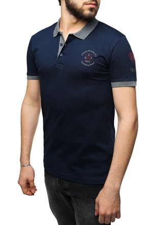 Madmext Navy Blue Polo Shirt 2346