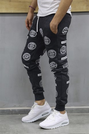 Madmext Patterned Smoked Joggers 2075