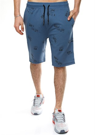 Madmext Printed Daily Blue Shorts 2407