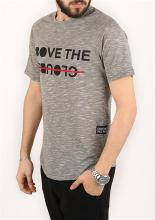 Madmext Printed Khaki T-Shirt 2320