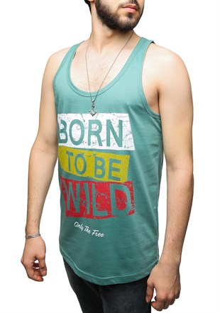 Madmext Green Tank Top 2486