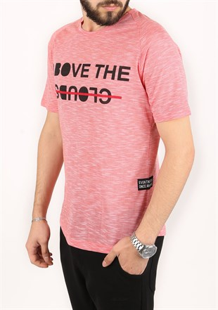 Madmext Printed Pink T-Shirt 2320