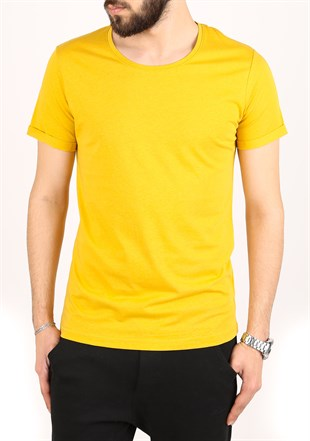 Madmext Musrard Color T-shirt 2450