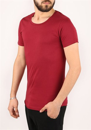 Madmext Basic Red T-Shirt 2308