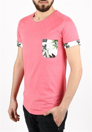Madmext Casual Pink T-Shirt 2302