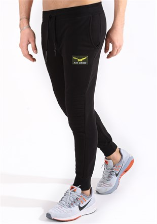 Madmext Slim Fit Black Joggers 2089