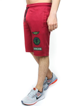 Madmext Men Daily Burgundy Shorts