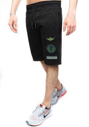 Madmext Men Daily Black Shorts