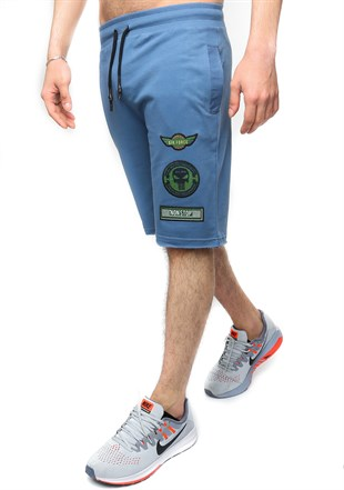Madmext Men Daily Blue Shorts