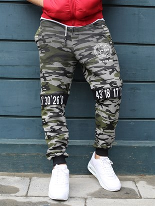Madmext Camouflage Casual Grey Joggers 2084