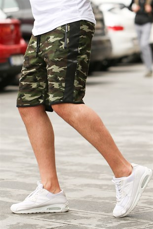 Madmext Green Camouflage Shorts 2423