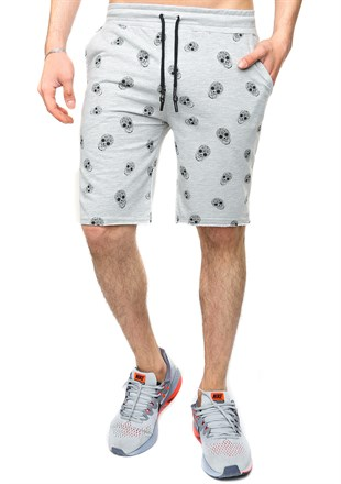 Madmext Patterned Grey Shorts 2426