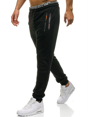Madmext Casual Black Joggers 1607