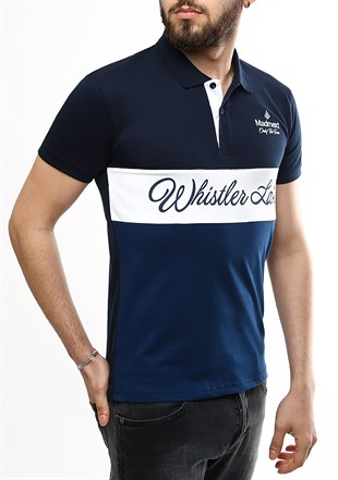 Madmext Navy Blue Polo Shirt 2355