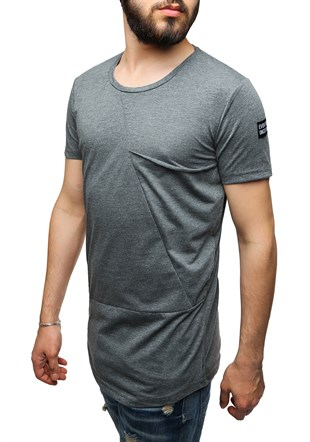 Madmext Longline Anthracite T-Shirt 2574