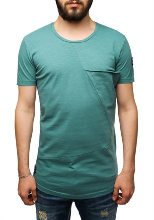 Madmext Longline Green T-Shirt 2574