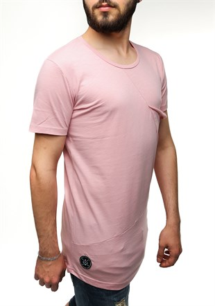 Madmext Longline Powder Color T-Shirt 2574
