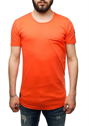 Madmext Longline Orange T-Shirt 2574