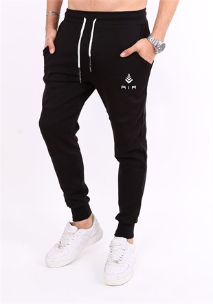 Madmext Casual Black Joggers 2086