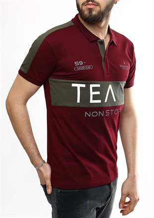 Madmext Burgundy Polo Shirt 2359