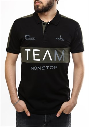 Madmext Black Polo Shirt 2359