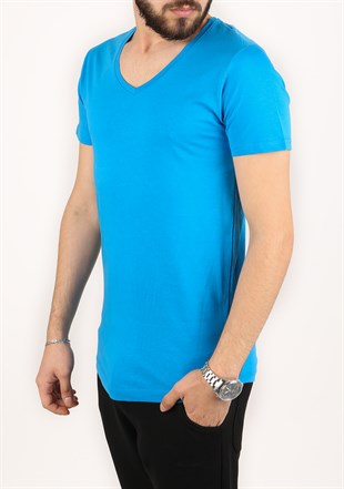Madmext Blue T-Shirt 2309