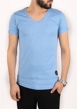 Madmext Blue T-Shirt 2301