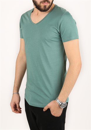 Madmext Green T-Shirt 2309