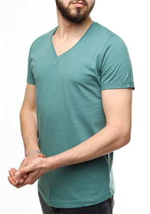 Madmext Green T-shirt 2455