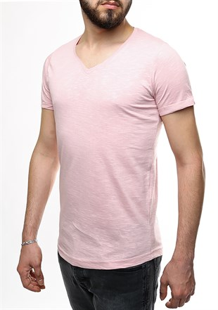 Madmext Pink Basic T-Shirt 2458