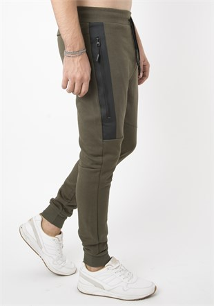 Madmext Green Sports Joggers 2082