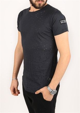 Madmext Super Relaxed Anthracite Men T-Shirt 1840