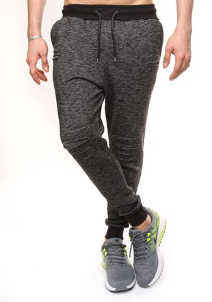 Madmext Slim Fit Black Joggers 1611